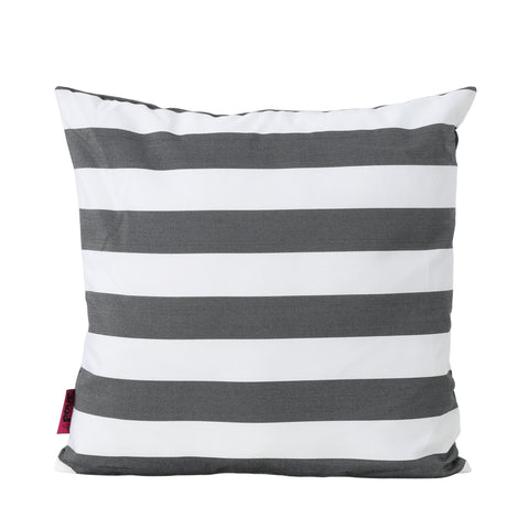La Mesa Indoor Striped Water Resistant Square Throw Pillow