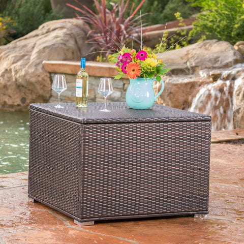 San-Louis-Obispo Outdoor Wicker Storage Box