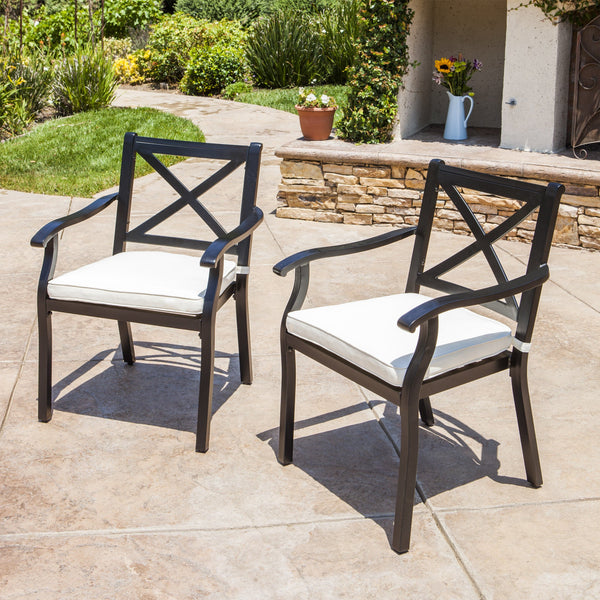 Eowyn Outdoor Cast Aluminum Dining Chairs W Water