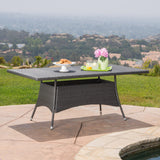 Manteo Rectangular Outdoor Wicker Dining Table