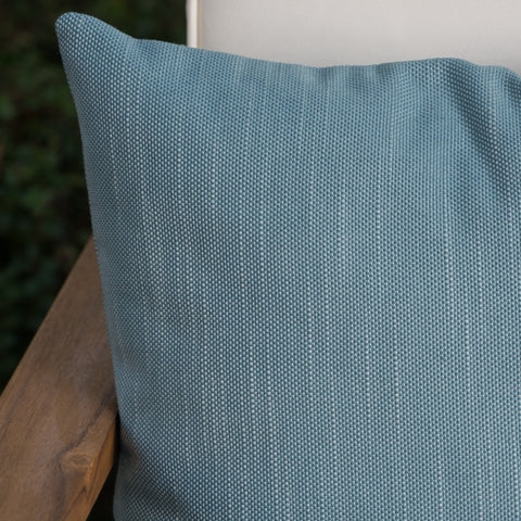 Belflower Outdoor Teal Water Resistant 16 X 16 Square Pillow