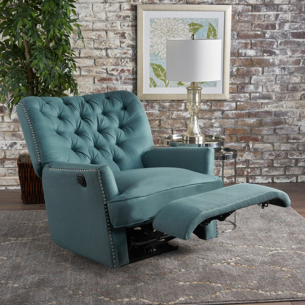 Great Palermo Tufted Fabric Power Recliner Chair