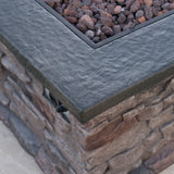 Stone Outdoor Natural Stone Finished Propane Fire Pit -- 40,000 BTU