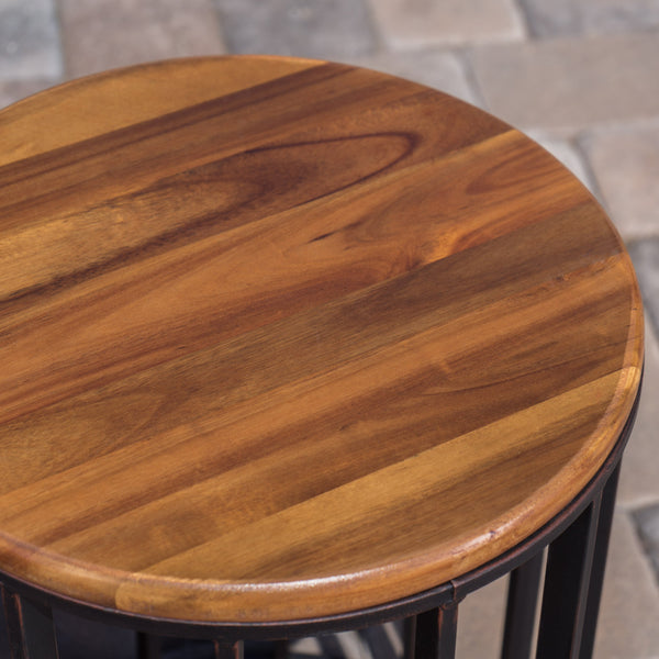 Colburn Outdoor Natural Finished Acacia Wood 15 Inch