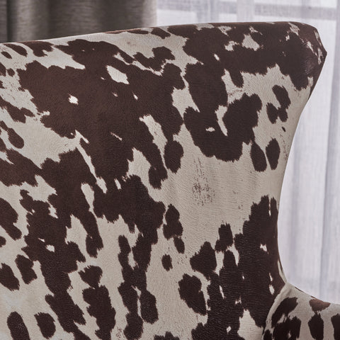 Analy Classic Milk Cow New Velvet Club Chair