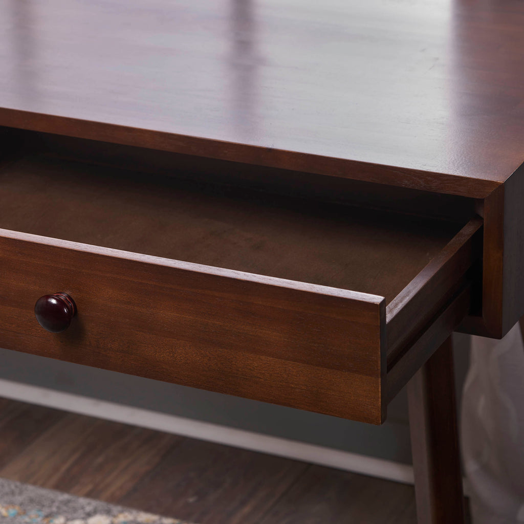 Jushwo Walnut Finished Acacia Wood Console Table