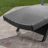 Solaris Outdoor Grey Wicker Armed Chaise Lounge w/ Water Resistant Cushion