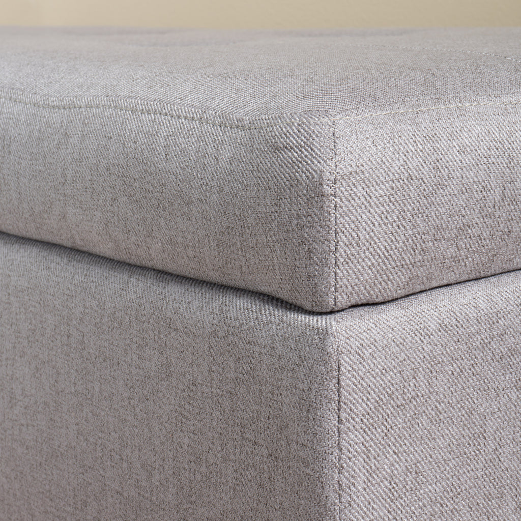 Bajia Contemporary Tufted Fabric Storage Ottoman Bench