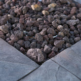 Angeleno Outdoor Gray Square Fire Pit - 40,000 BTU