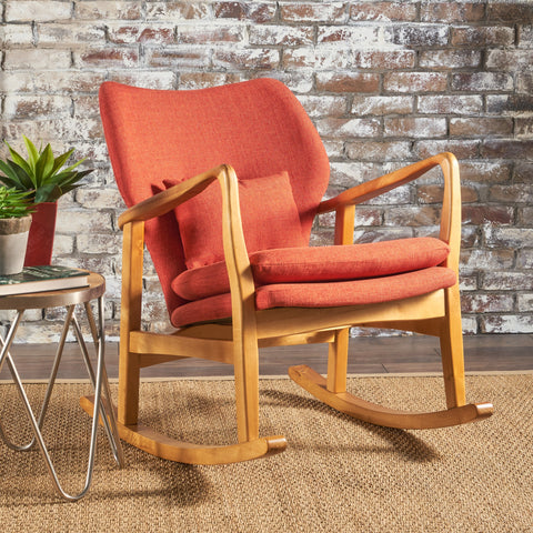 Balen Mid Century Modern Fabric Rocking Chair