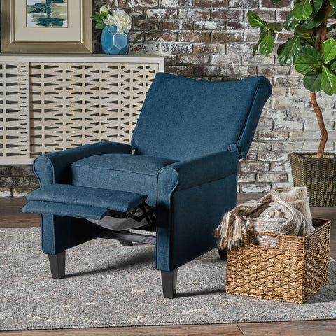 Charlene Traditional Fabric Recliner Chair