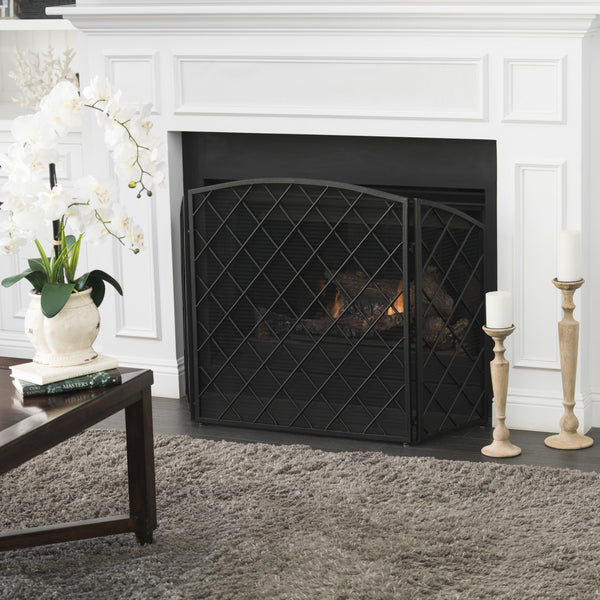 Angella 3 Panelled Iron Fireplace Screen Gdf Studio