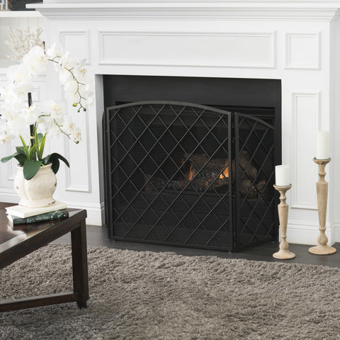 Angella 3 Panelled Iron Fireplace Screen