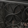 Veritas Modern Glam Single Panel Iron Fireplace Screen with Circle Pattern