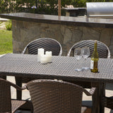 Livingston 7 Piece Wicker Outdoor Dining Set