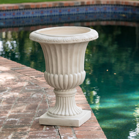Napoli Antique White Stone Planter