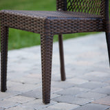 Dana Point 5-pieces Outdoor Patio Brown Wicker Dining Set