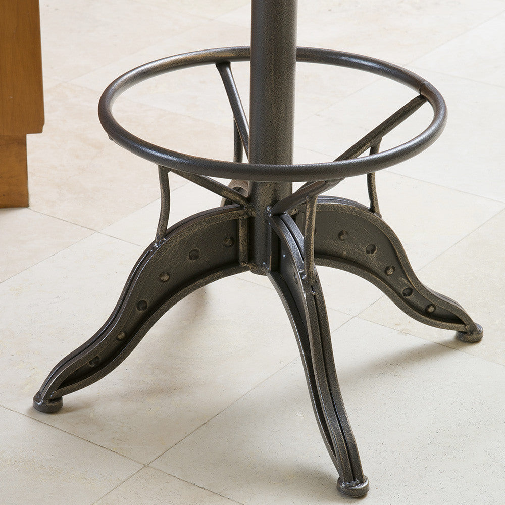 The Aero Industrial Design Adjustable Steel Bar Stool