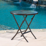 Cantinela 3pc Outdoor Wicker Folding Bistro Set