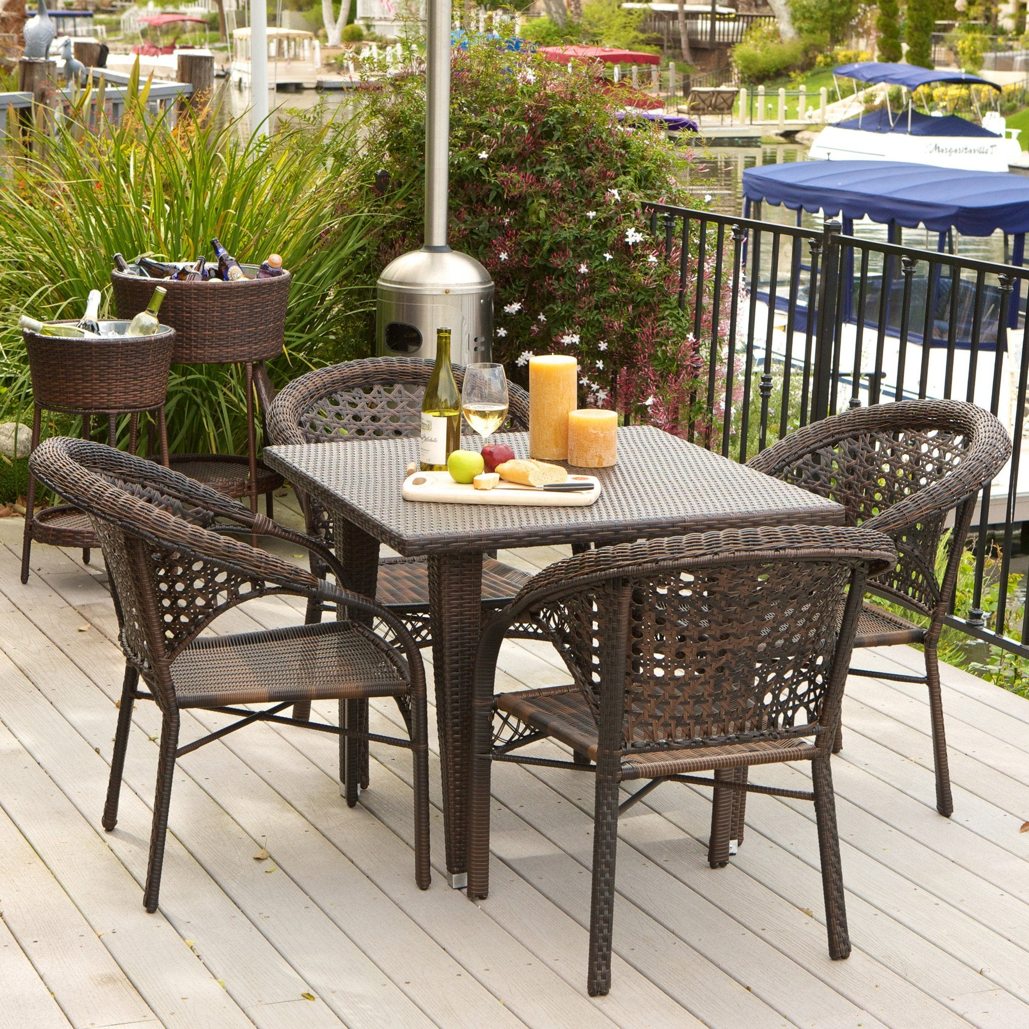 Louisiana Outdoor Wicker Dining Set foto