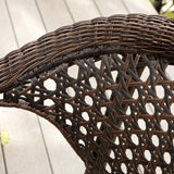 Louisiana Outdoor 7-Piece Brown Wicker Dining Set with Stackable Chairs