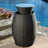 Pattaya 3pc Outdoor Black Wicker Chat Set