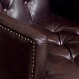 Medford Brown Leather Club Chair