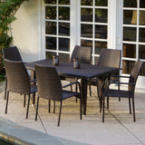 Michael 7-Piece Outdoor Wicker Dining Set