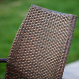 Michael Outdoor Wicker Chairs (Set of 2)