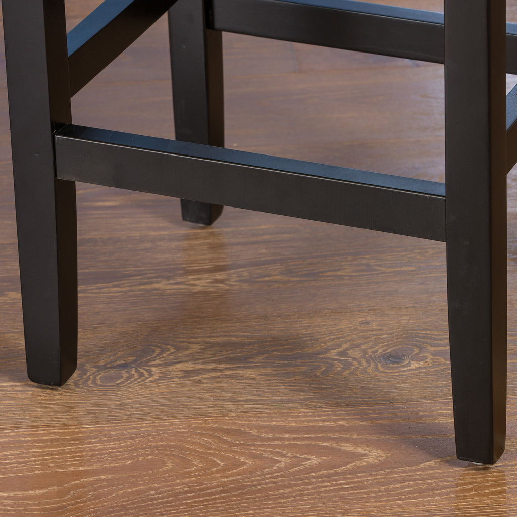 Chantal 26-Inch Brown Backless Leather Counter Stool (Set of 2)
