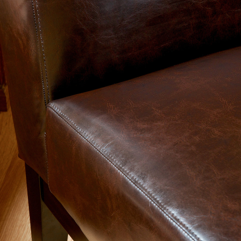Brakar Contemporary Brown Leather Slipper Chair