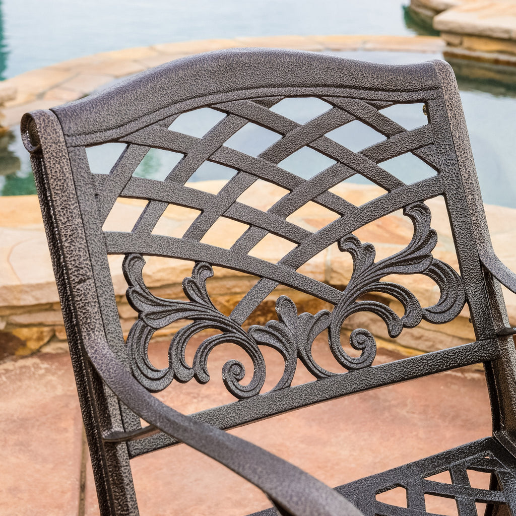 Covington Outdoor Cast Aluminum Dining Chair (Set of 2)
