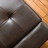 Renata Brown Leather Storage Ottoman