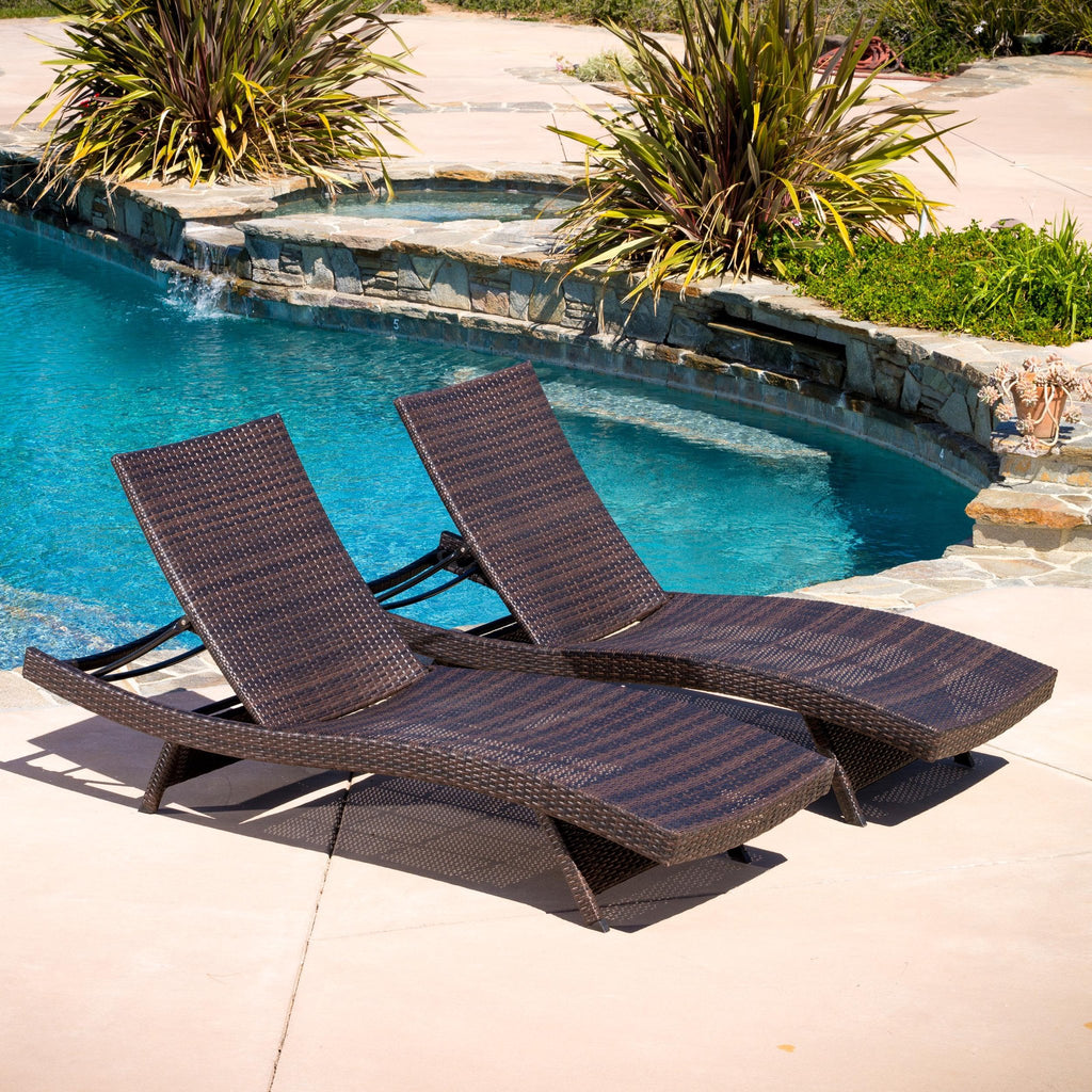Lakeport Outdoor Adjustable Chaise Lounge Chairs (set of 2 ...