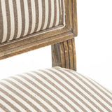 Martin Weathered Dark Coffee Stripe Dining Chairs (Set of 2)