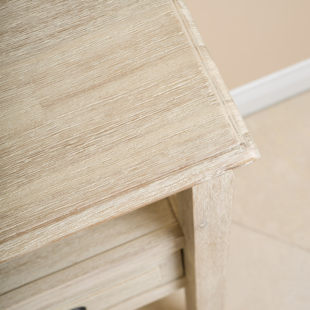 Noah Weathered Wood Accent Table