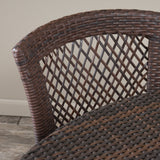 Holmes Outdoor 5pc Multibrown Wicker Dining Set