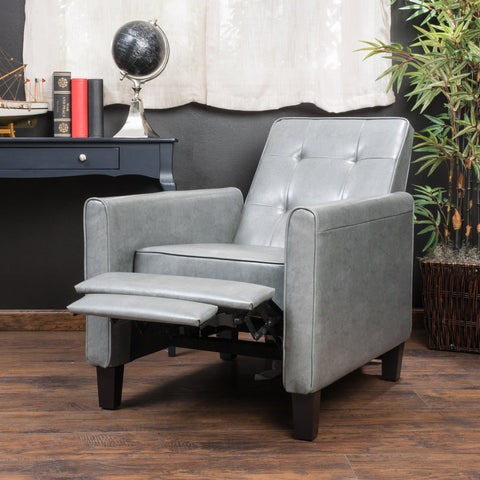 Denise Austin Home Elan Tufted Bonded Leather Recliner Chair