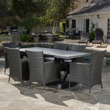Myrtle Outdoor 7-piece Dining Set with Cushions
