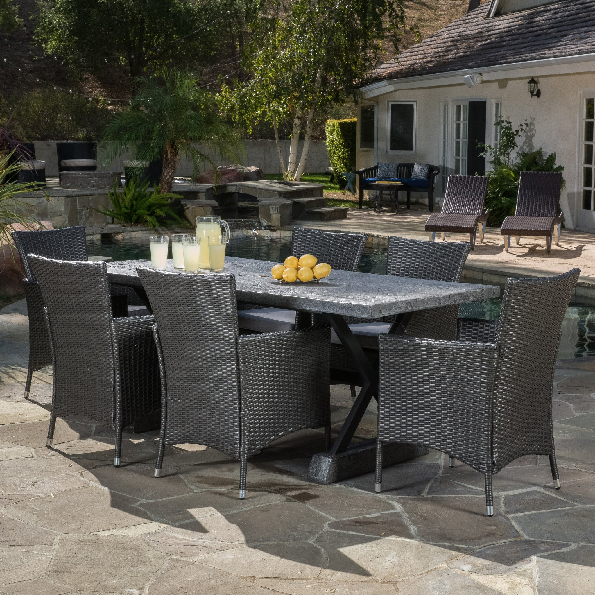 Outdoor Dining Set Cushions foto