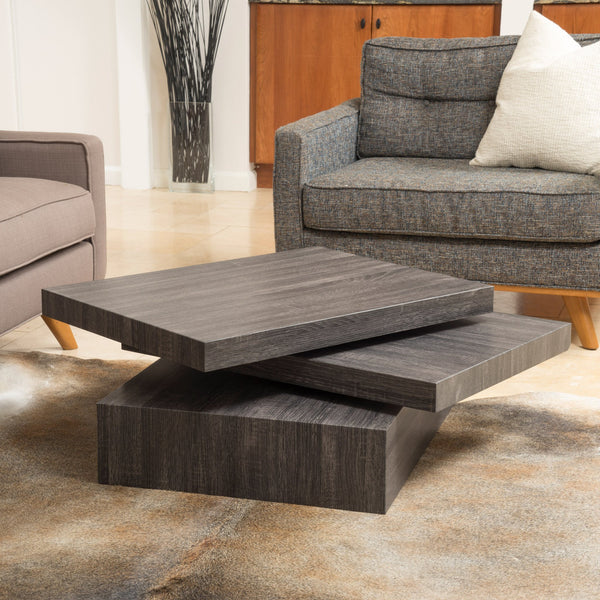 Haring Square Rotating Wood Coffee Table Gdf Studio