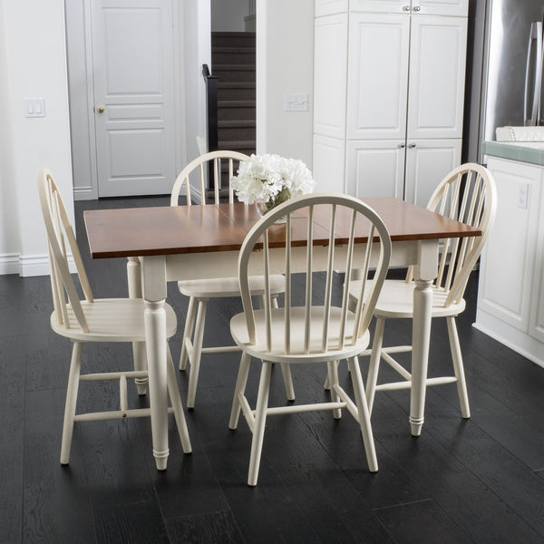 Gates 5-piece Spindle Wood Dining Set with Leaf Extension