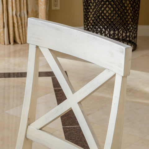 Leyden Antique White Wood Dining Chair (Set of 2)