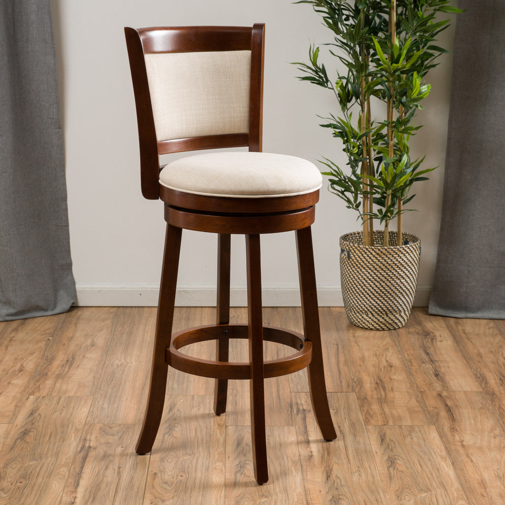Davis 29 Inch Fabric Swivel Backed Bar Stool Gdf Studio