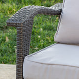 Bleecker Outdoor Wicker Club Chair with Cushion, Set of 2
