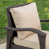Maui Outdoor 5-piece Brown Wicker Seating Set with Cushions