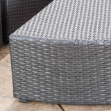 Reddington 7pc Outdoor Grey Wicker Sofa Set w/ Cushions
