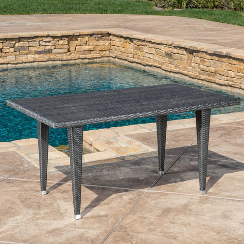 Aina Grey Wicker Outdoor Patio Table