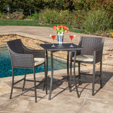 Denise Austin Home Pyra 3 Pc. Multi Brown Outdoor Bar Set