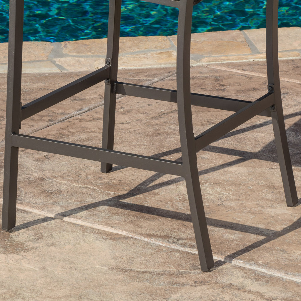 Pyra 3 Pc. Multi Brown Outdoor Bar Set